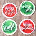 Christmas Watercolor Tags