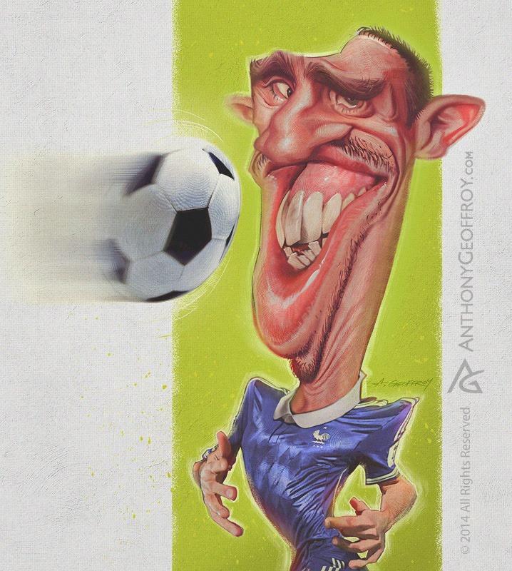 Frank Ribery por Anthony Geoffroy