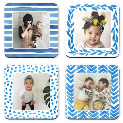 Shutterfly Watercolor Patterned Frames Coaster