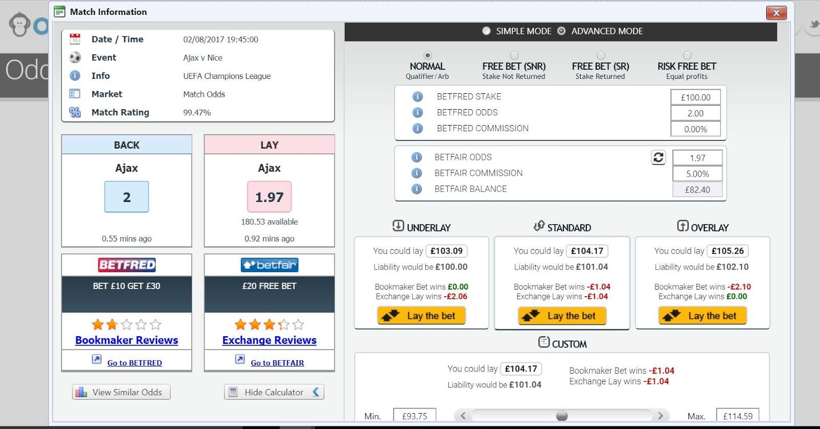 Profit Accumulator vs OddsMonkey - The Matched Betting Choice