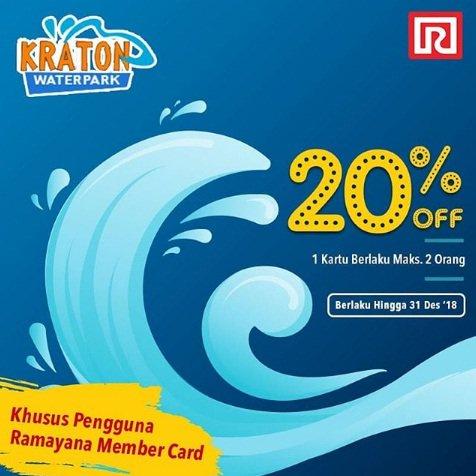 Ramayana - Promo Diskon 20% Kraton Waterpark Sidoarjo Pakai Member Card