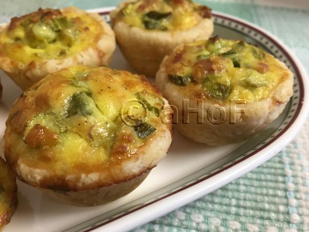 Mini Asparagus Quiches with Feta and Prosciutto