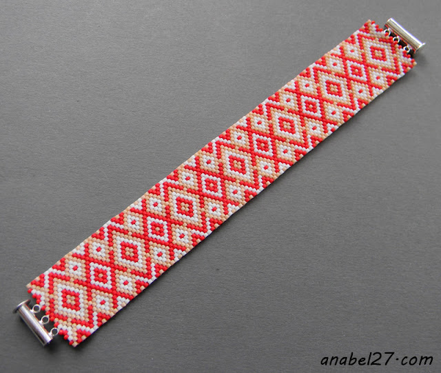 seed bead jewelry - beaded cuff