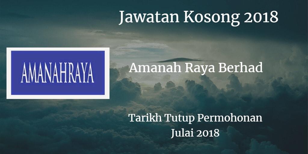 Jawatan Kosong Amanah Raya Berhad Julai 2018