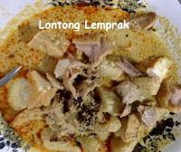makanan kuliner khas kota batang lontong lemprak