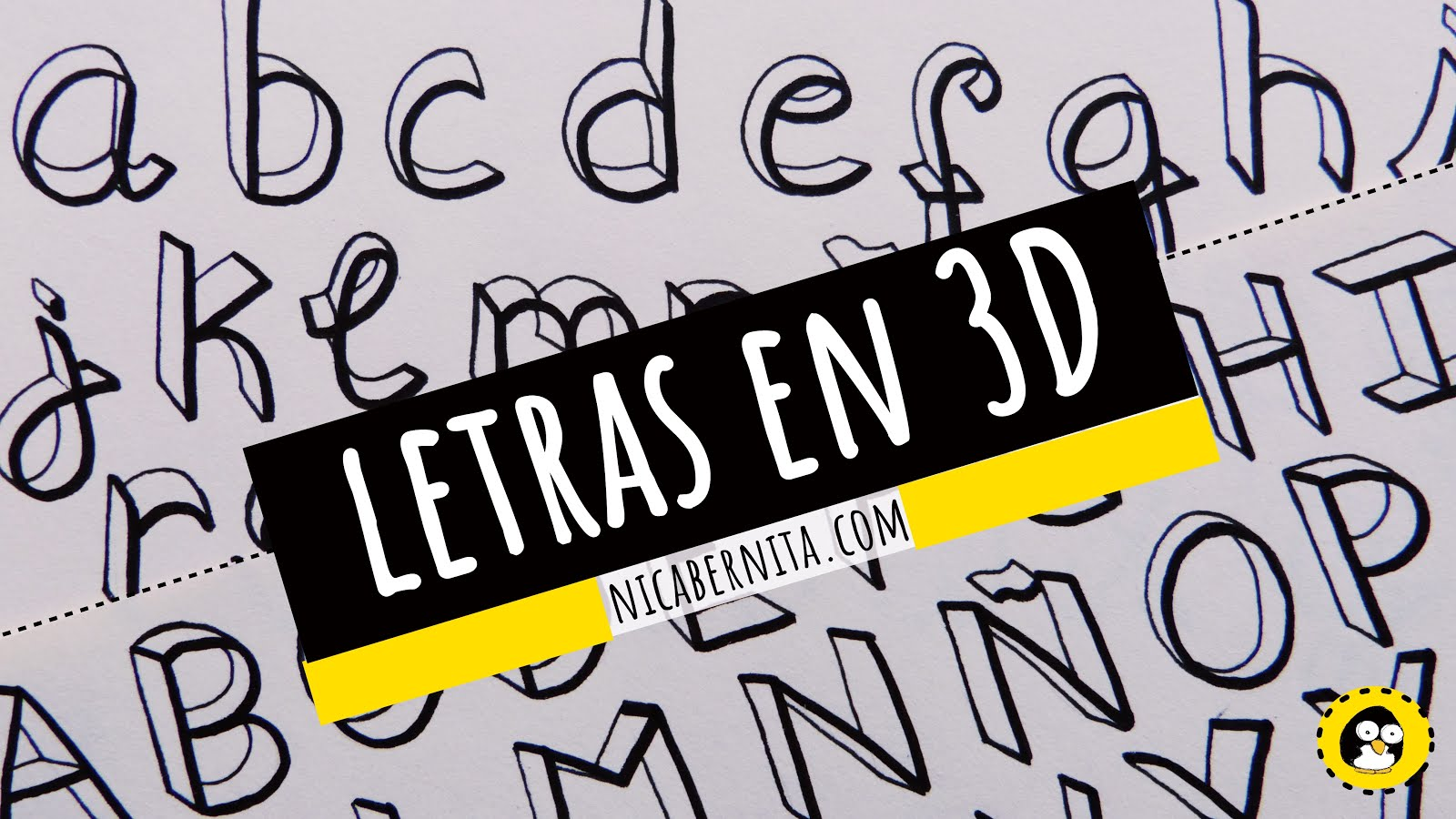 fresco dibujos de letras en 3d