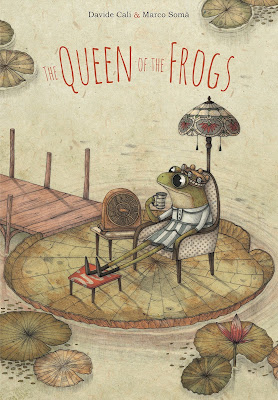 The Queen of the Frogs - The frogs have a nice life at the pond filled with flies, hopping, napping, and singing. But one day, when a frog finds a crown, she instantly is pronounced queen. With her advisors, she begins doing what queens do: basking on the largest lily pad and making others catch her flies for her. Life takes on a new, but not necessarily better normal for everyone, and soon other frogs begin to question her legitimacy as queen.