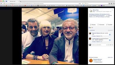 Maroni su Facebook con il boss e l'amica
