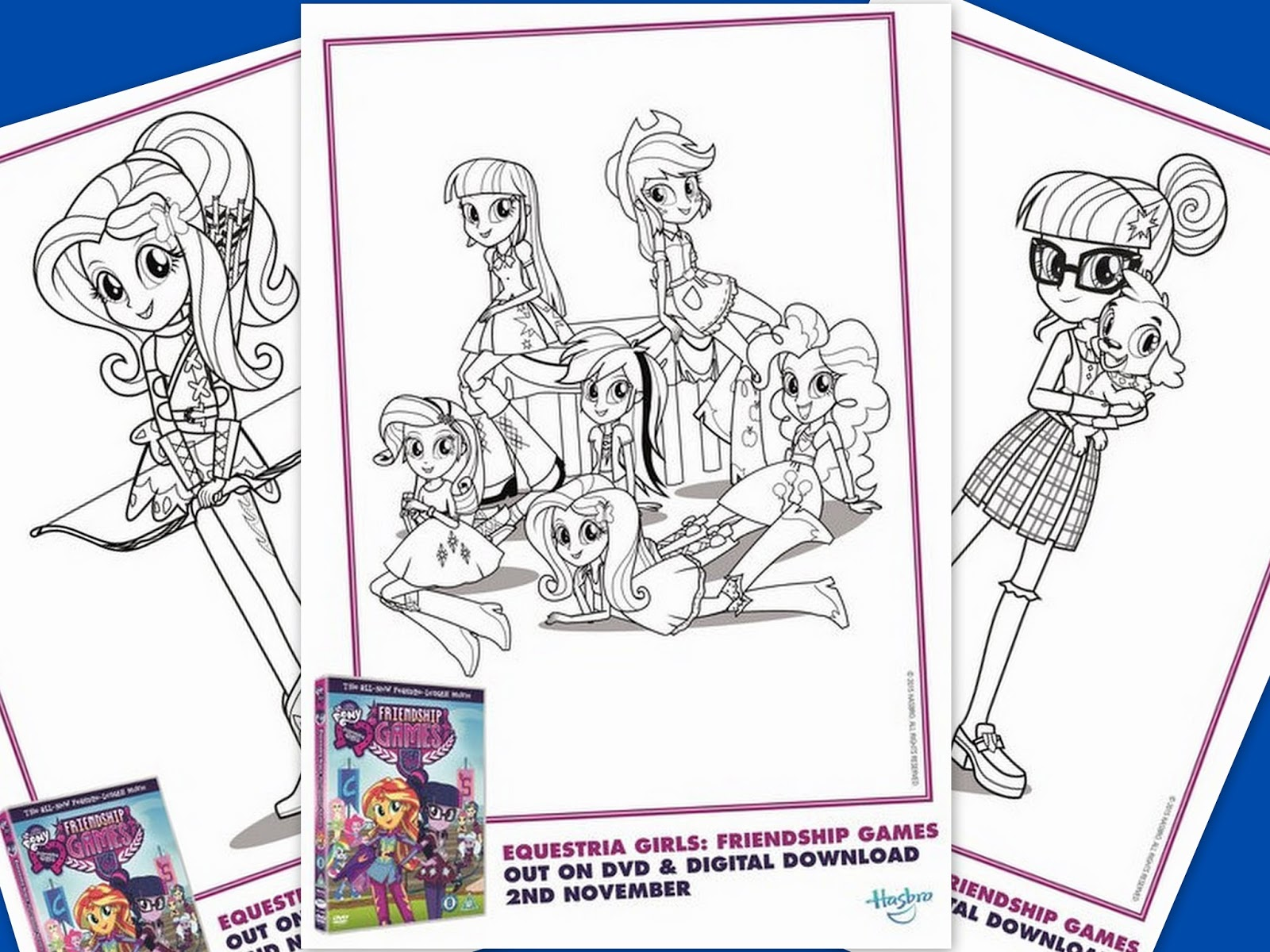 My Little Pony Equestria Girls Friendship Games Coloring Page Logo