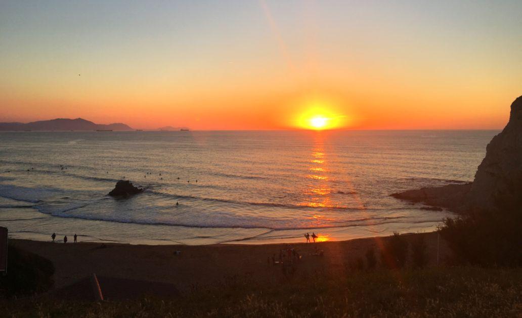 puesta sol sopela