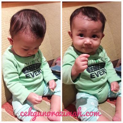 dhia zahra, kanak-kanak 11 bulan, budak makan sendiri