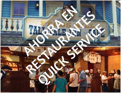 Como ahorrar dinero en Disney Restaurantes Quick Service
