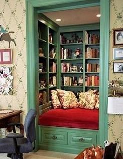 un coin lecture cocooning curiosite. Black Bedroom Furniture Sets. Home Design Ideas