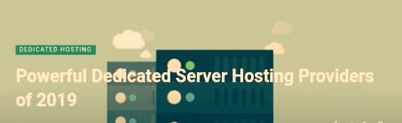 Dedicated Server Hosting Providers
