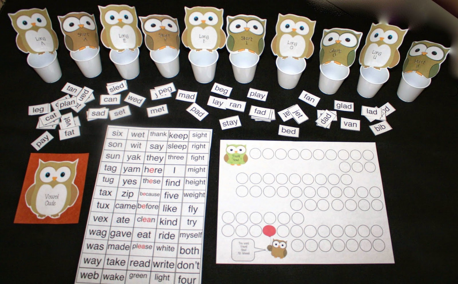 Classroom Freebies Howl With The Vowel Owls Cvc Word Games