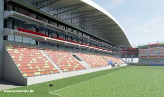 Close-up vernieuwde hoofdtribune KV Mechelen