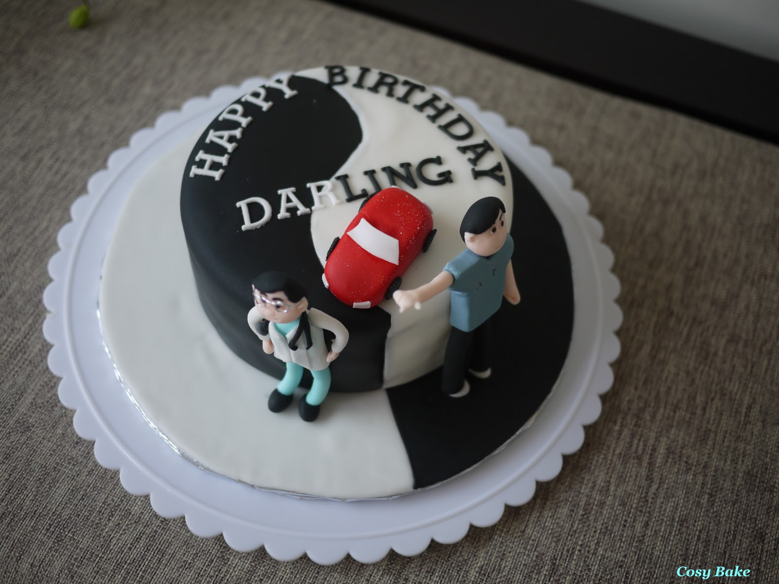 Birthday Cake Badminton Design