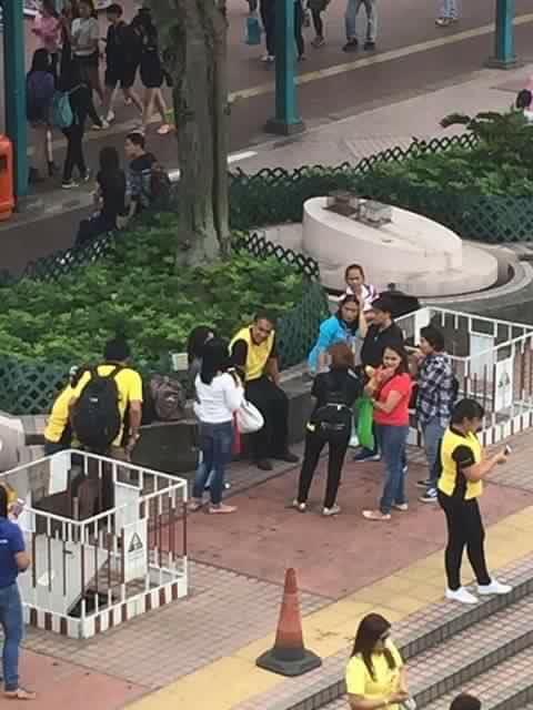 Roxas at a park in Central District, Hong Kong