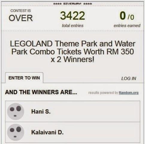 legoland malaysia resort theme park winners