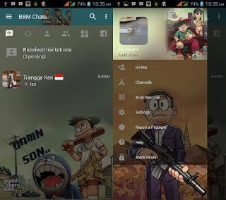 BBM Mod Doraemon GTA Clone Apk V3.2.3.11 Terbaru