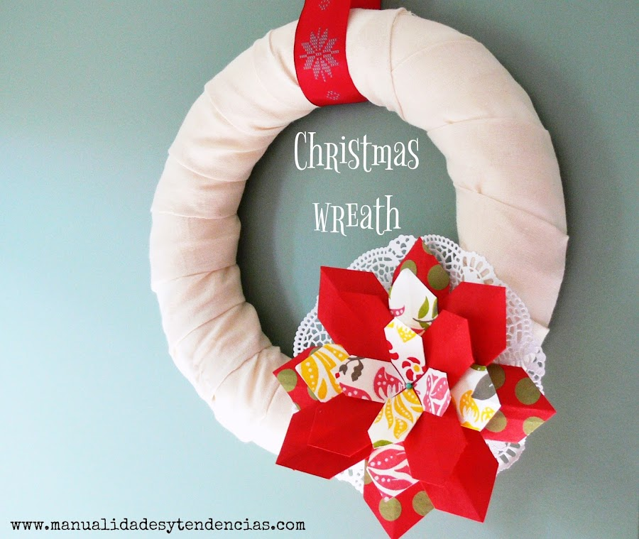 Christmas wreath paper flower