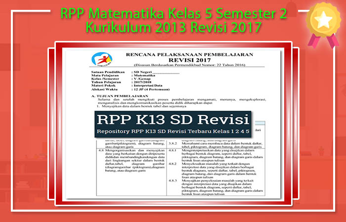 RPP Matematika Kelas 5 Semester 2 Kurikulum 2013 Revisi 2017