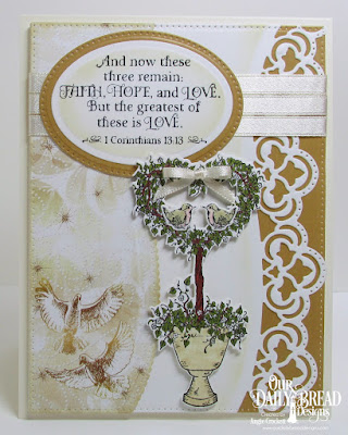 Our Daily Bread Designs Stamp Set: Happy Wedding Day, Custom Dies: Heart Topiary, Leafy Edged Borders, Pierced Rectangles,Pierced Ovals, Ovals, Paper Collection: Wedding Wishes