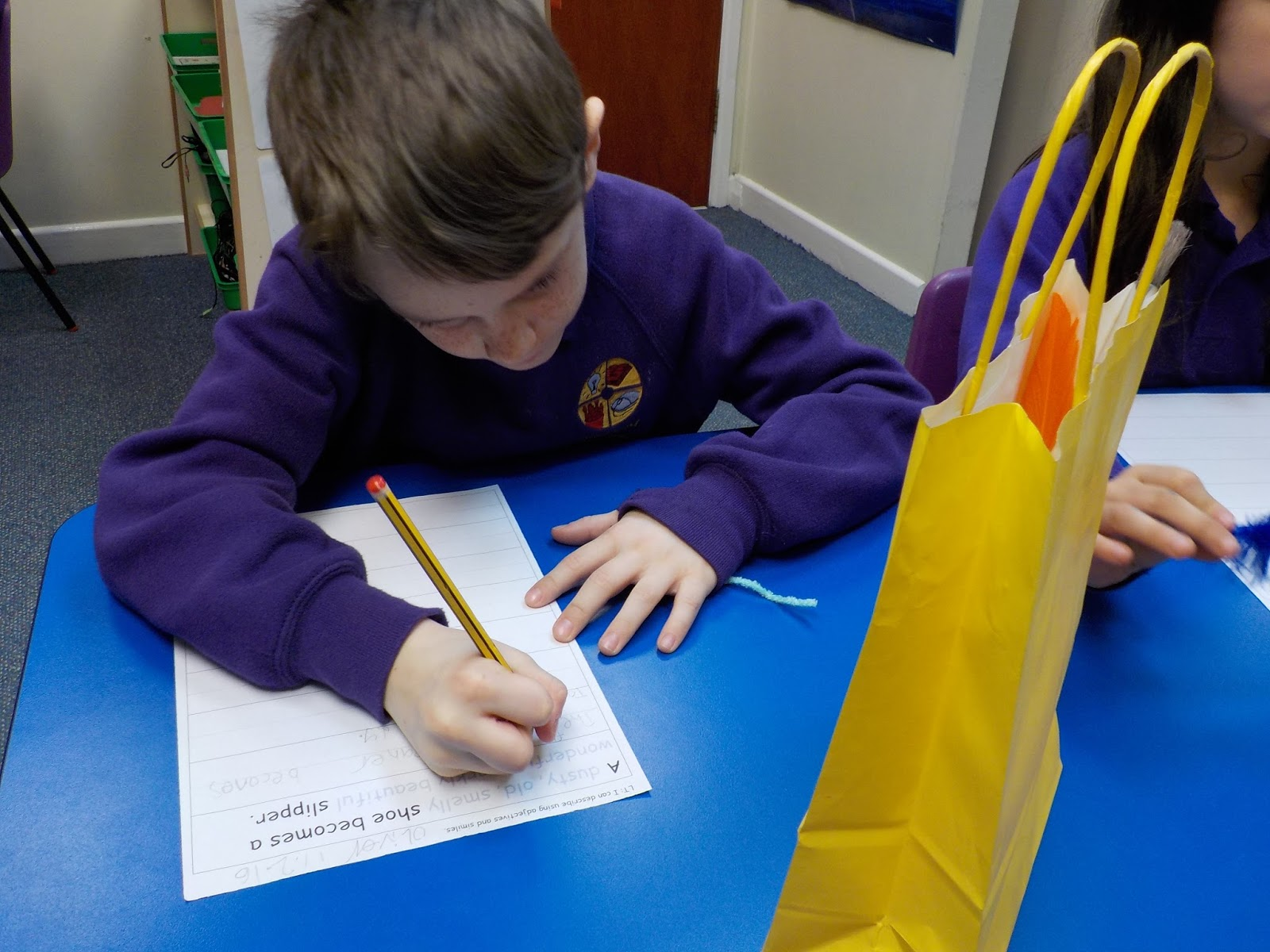 Year Two blog: The Girl With the Yellow Bag