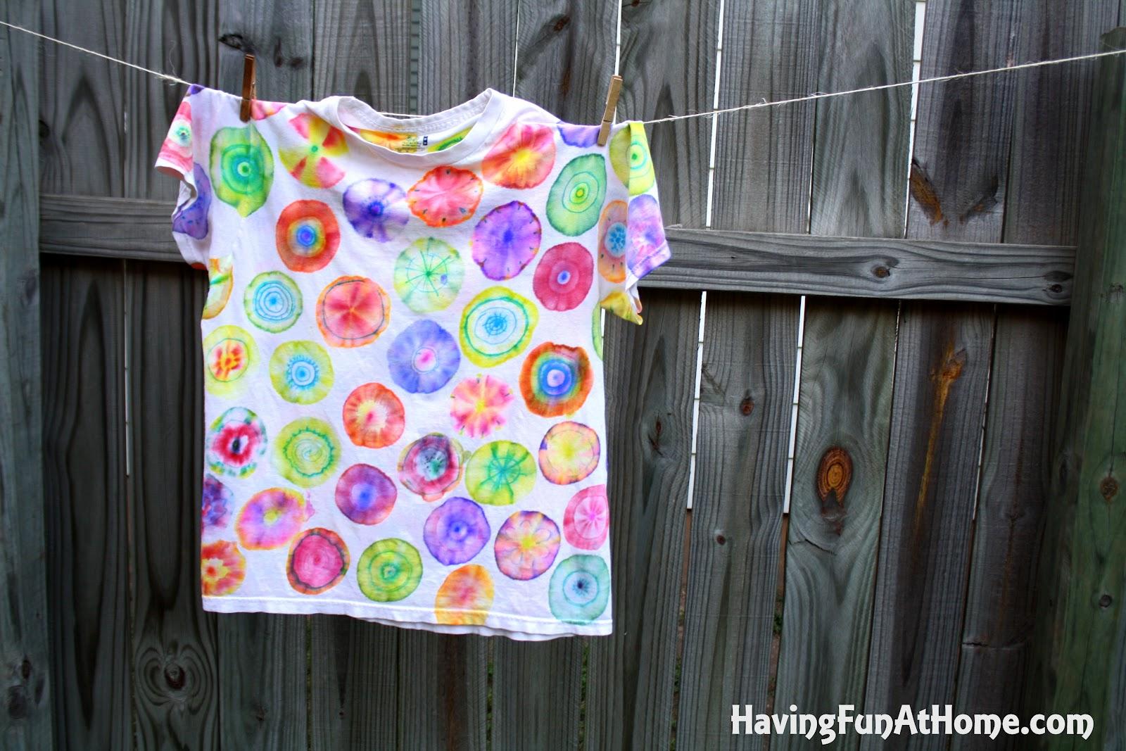 ded5930b8c4e94 Having Fun at Home  Sharpie Tie Dye Method  10 Tips