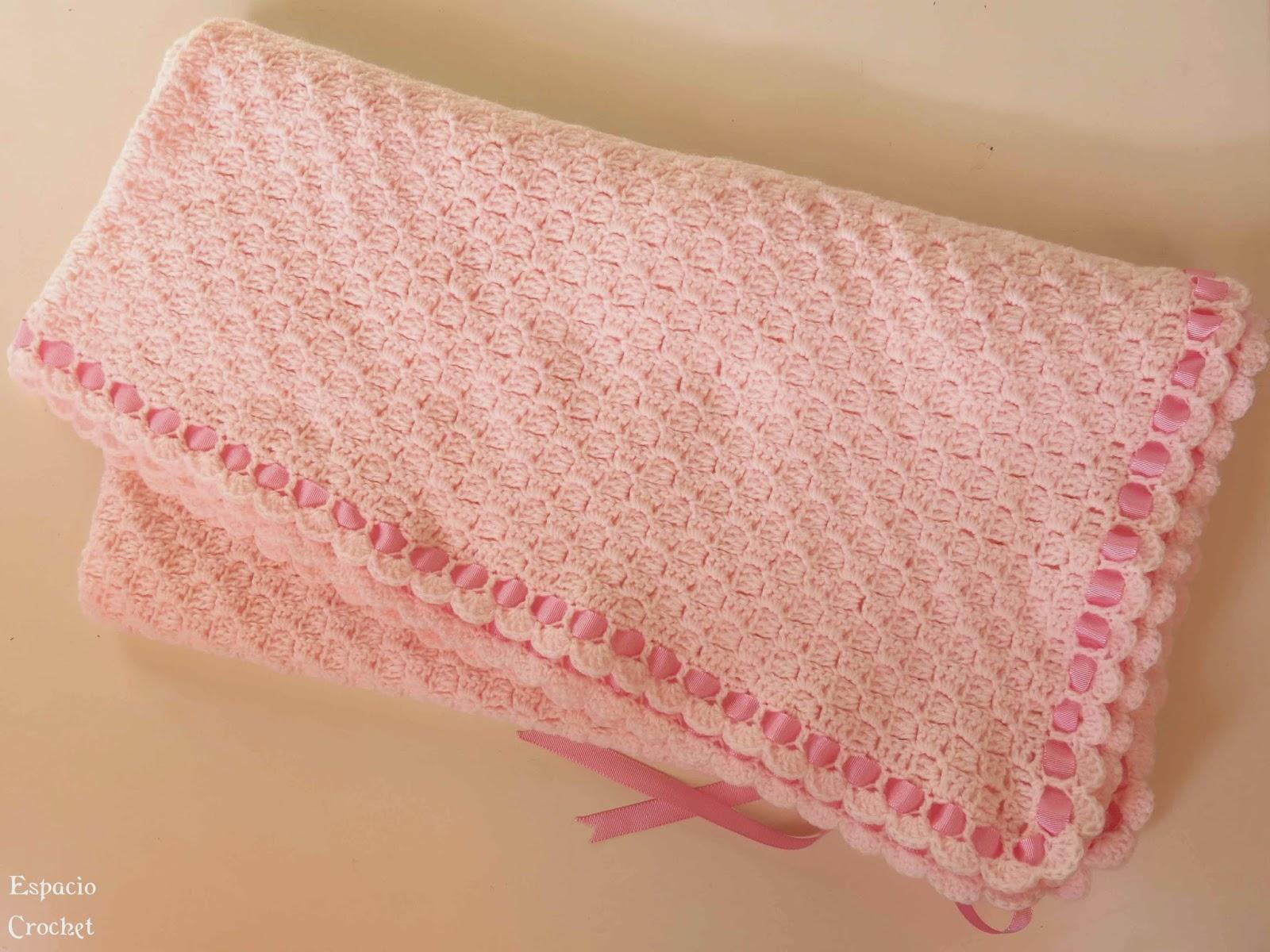 Manta para beb espacio crochet - Como hacer mantas de punto ...