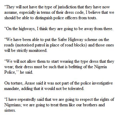 Nigeria police IG, Solomon Arase