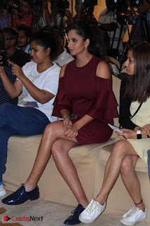 Indian Tennis Star Sania Mirza Pos in Red Short Dress at  0013.jpg