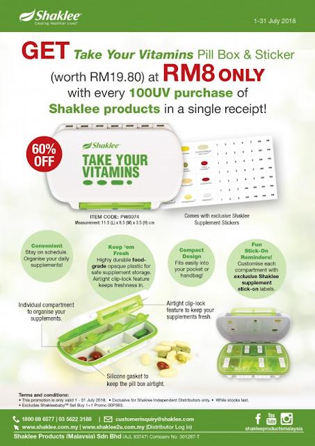 Pill Box dan Sticker Vitamin Shaklee
