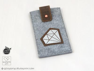 Silhouette Love im Carbon Look oder meine diamantene Handyhülle