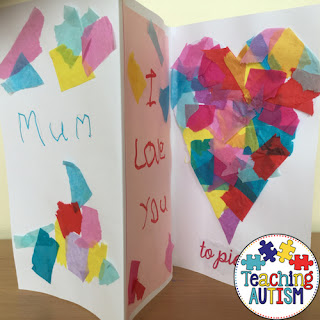preschool fathers day crafts ideas s day card i you to pieces teaching autism 7074