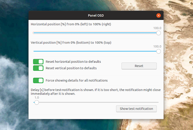 change gnome shell notification bubbles position