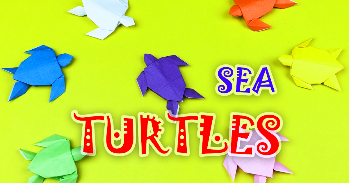 How to Make an Origami Turtle Step by Step Instructions | Free ... | 630x1200