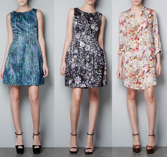 vestidos estampados zara 2012 2013