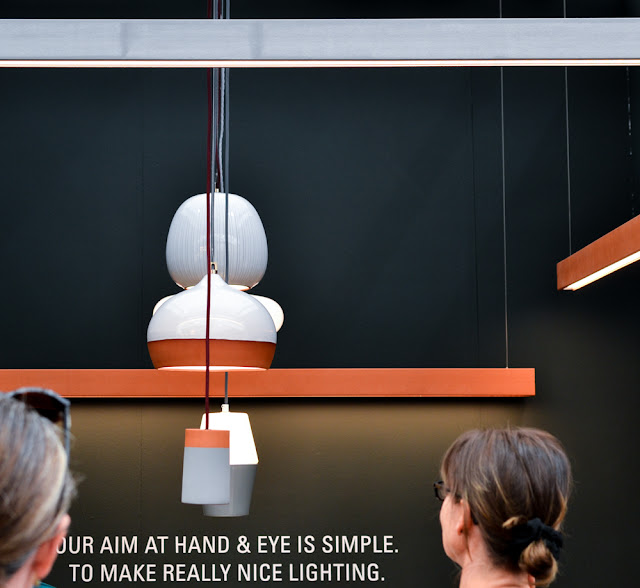 Terracotta lighting by Hand Eye Studio at Decorex during London Design Festival 2016 #LDF16