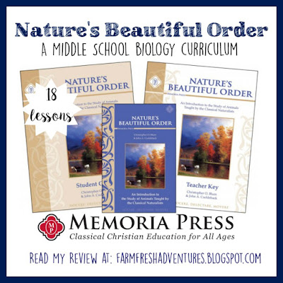 Nature's Beautiful Order by Memoria Press~ Middle School Science Curriculum {Review}