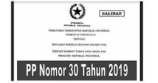 Peraturan - PP NOMOR 30 TAHUN 2019 TENTANG PENILAIAN KINERJA PNS