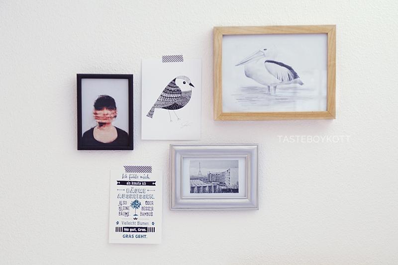 Bilderwand in Schwarz/ Weiß/ Naturtönen || Monochrome gallery wall