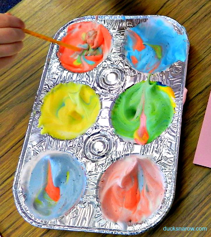 Preschool Painting - Try It With Shaving Cream! - Ducks \'n a Row