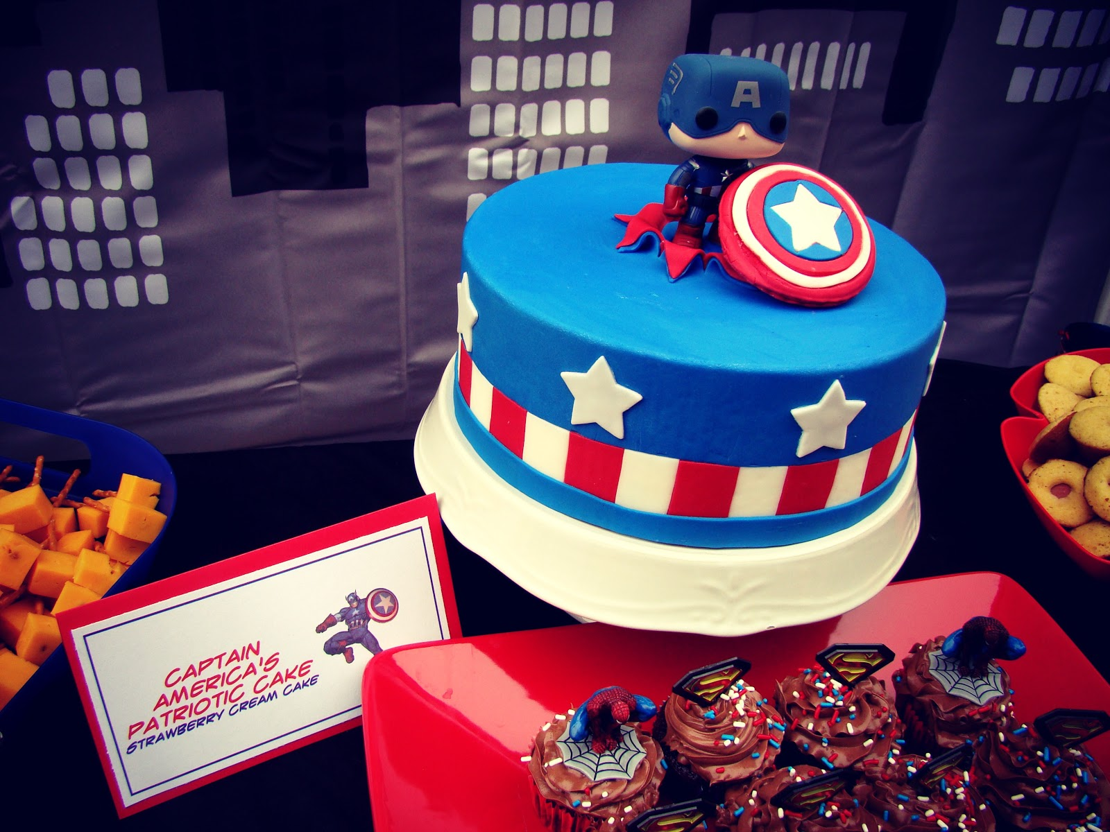 Cupcake Dreams And Paper Memories Super Hero Party