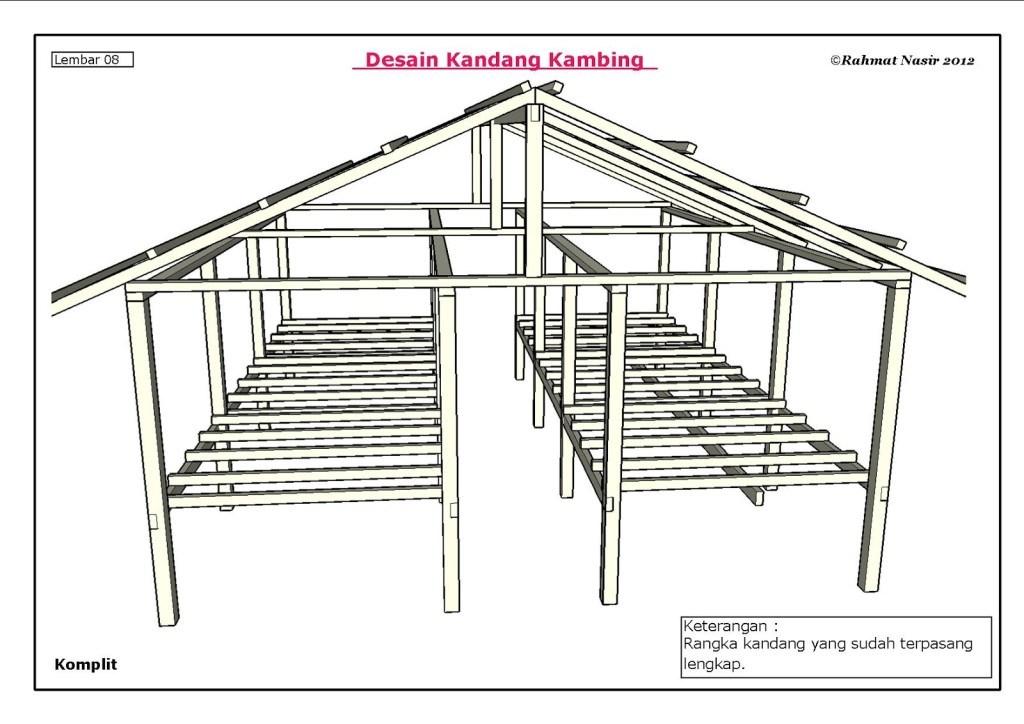 Desain Kandang Kambing Etawa dari Bambu dan Kayu