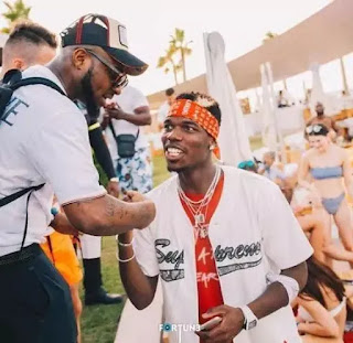 Nigeria Davido spotted with Pogba, Lionel Messi & other superstars party in Dubai