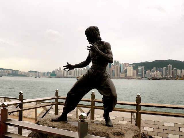 Bruce Lee statue on the Avenue of Stars, TST, Kowloon, Hong Kong