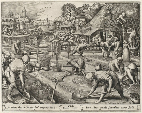 Spring (1570) by Pieter van der Heyden after Pieter Bruegel the Elder