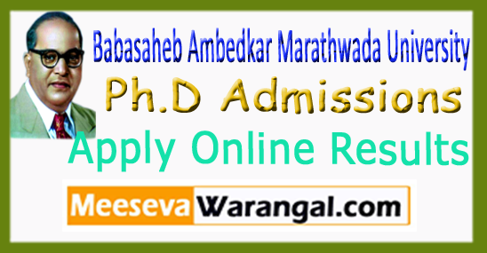 BAMU Ph.D Admissions Application Form PET Apply Online Results Interview 2017