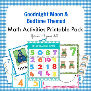 Bedtime Themed (Goodnight Moon) Math Learning Pack